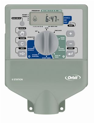 6 Station Super Dial Dual Program Indoor Sprinkler Timer